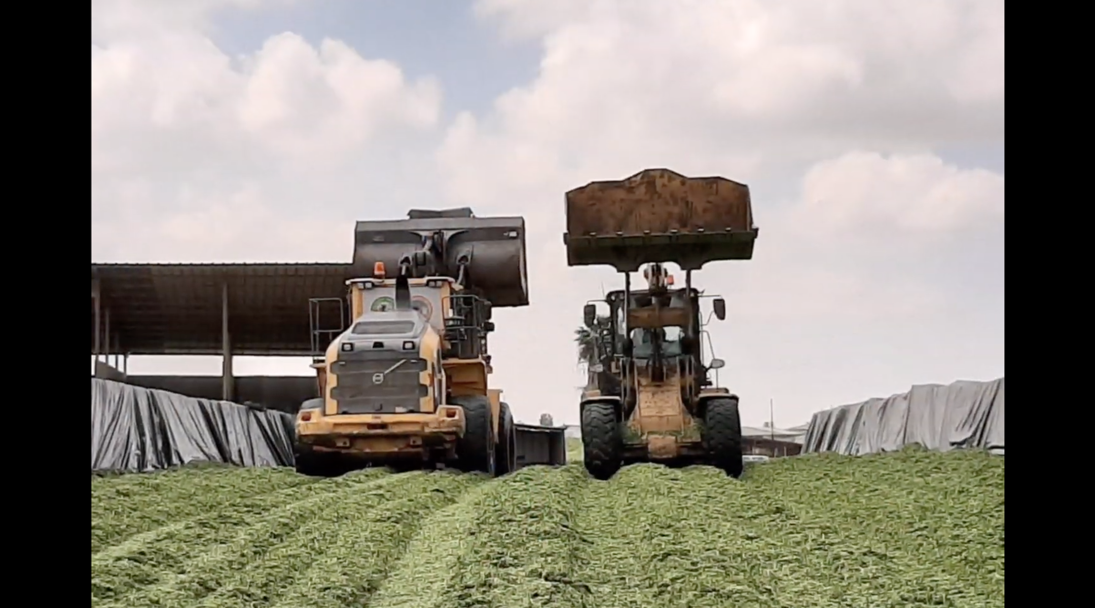 Farm equipment at Ein Hashlosha, a kibbutz on Israel's border with Gaza that has seen a recent influx of young families. (Screen shot from YouTube)