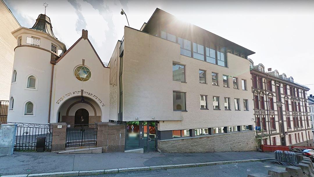 La principale synagogue d'Oslo, en Norvège. (Google Maps)