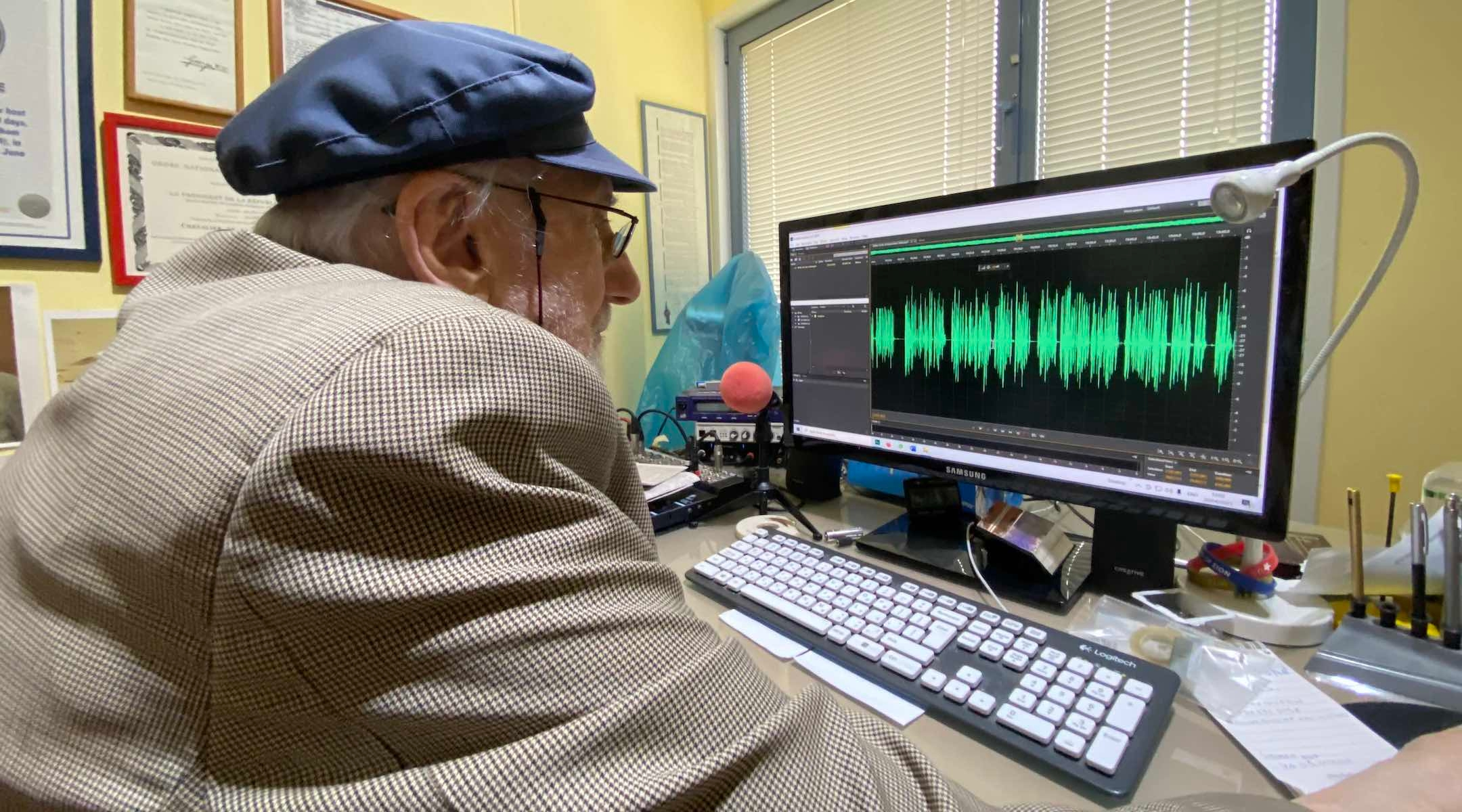 Radio technology has changed since Bingham began his career in the years following World War II, but he edits and uploads his own shows. (Sam Sokol)