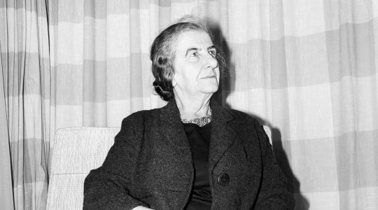 Golda Meir in France in 1965