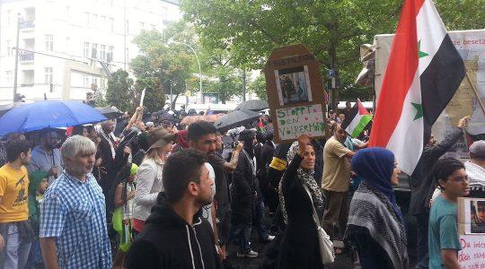 Al Quds marchers in Berlin in 2014.