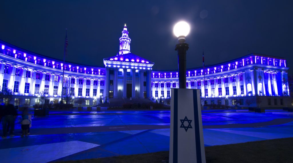These landmarks across the US lit up blue and white for Israel's Independence Day - Jewish Telegraphic Agency