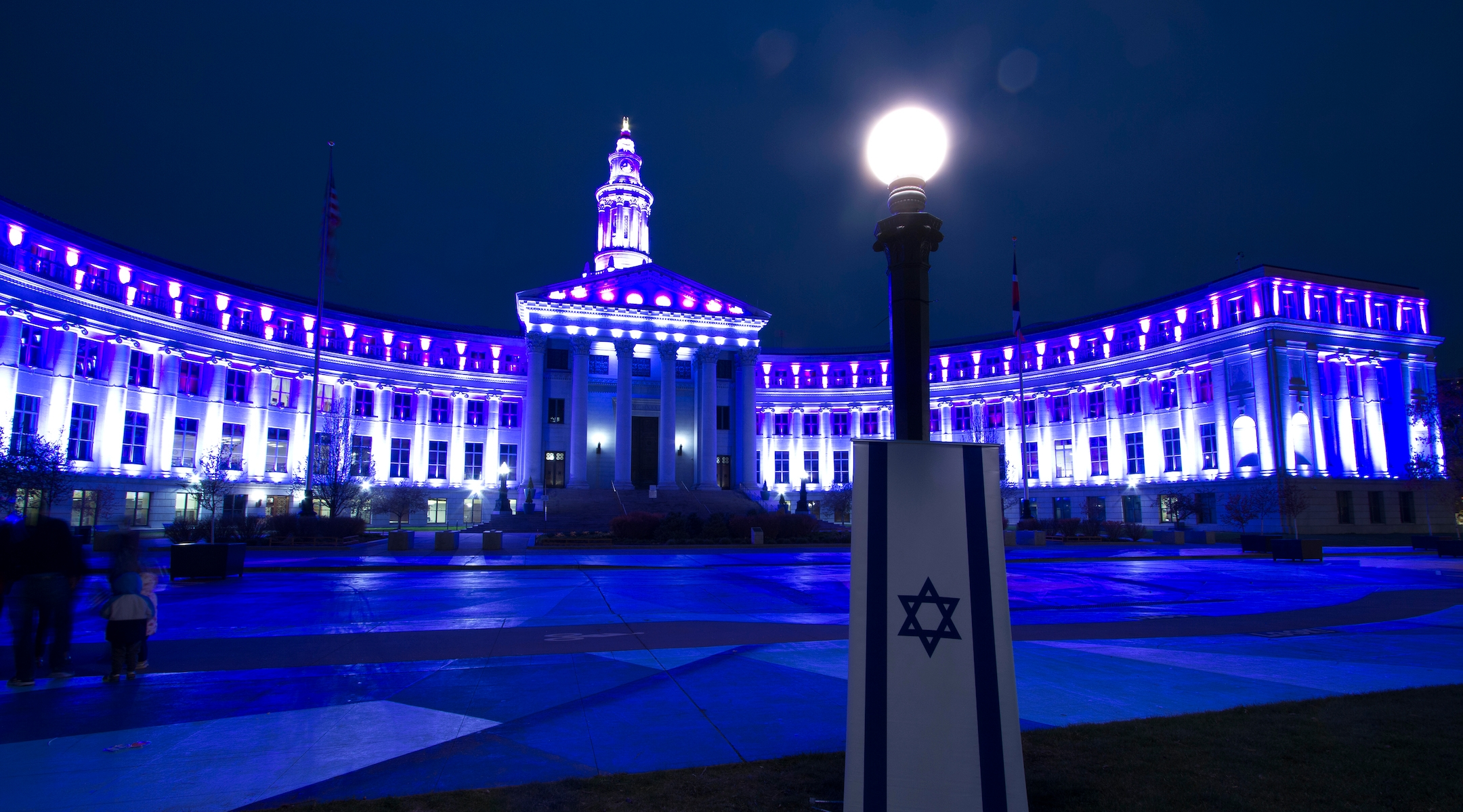 These landmarks across the US lit up blue and white for Israel's Independence Day