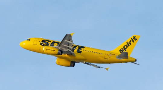 A Spirit Airlines plane
