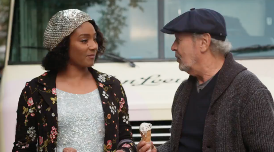 "Tiffany Haddish and Billy Crystal in a screen shot from the trailer for ""Here Today."""