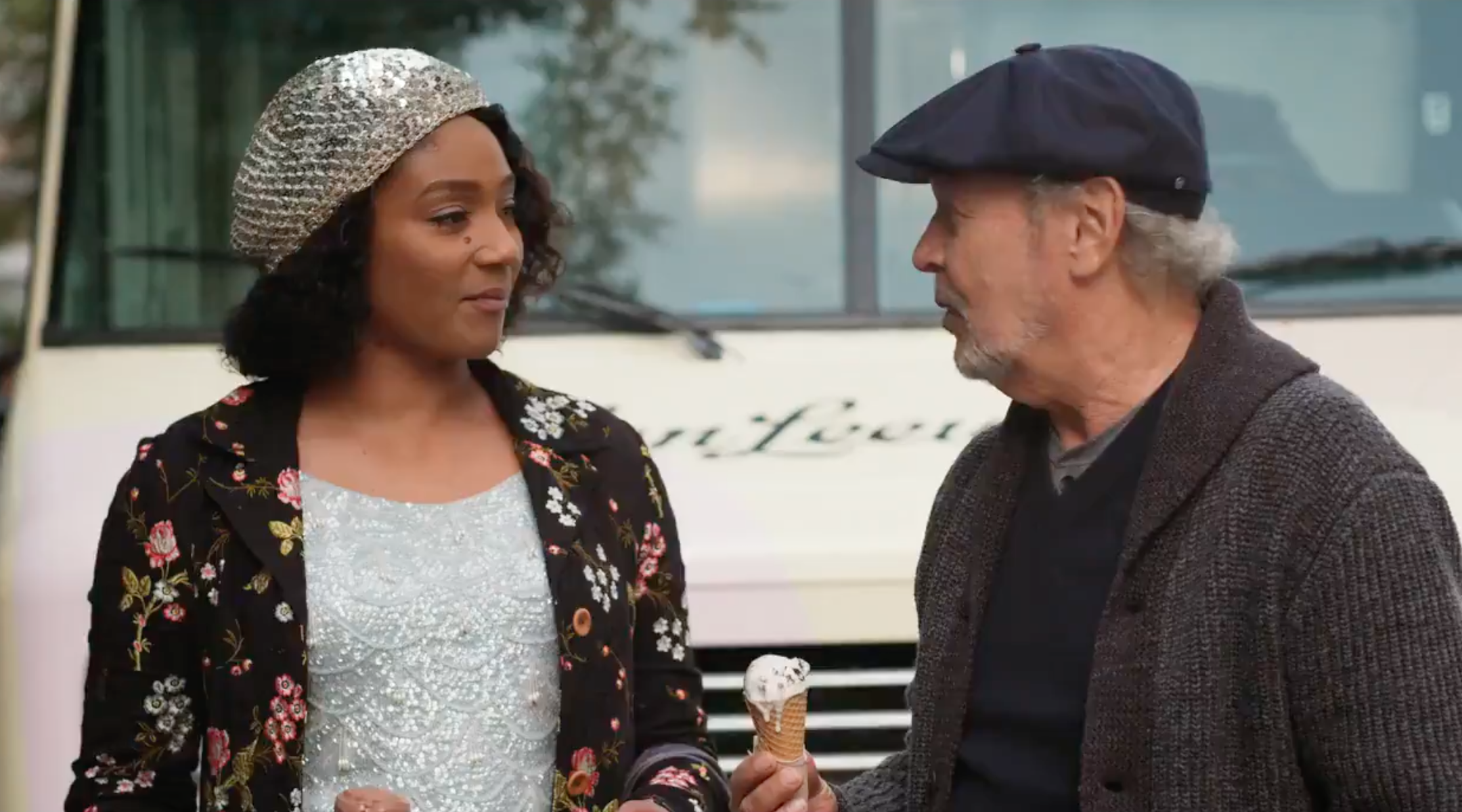 """Tiffany Haddish and Billy Crystal in a screen shot from the trailer for """"Here Today."""""""