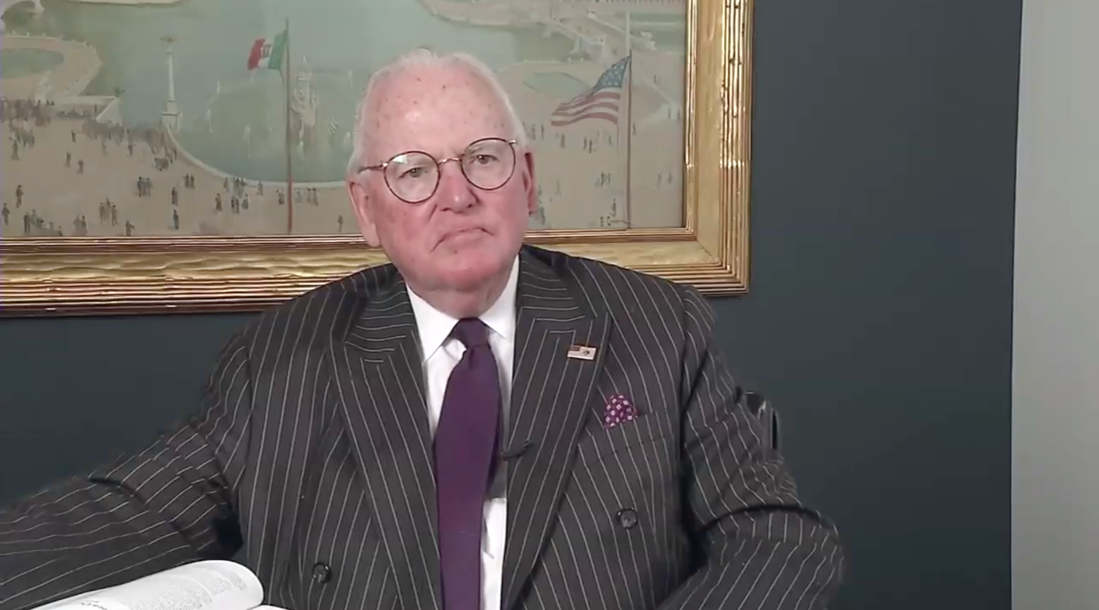 Chicago Alderman Ed Burke, shown here in 2018, is on trial for corruption. (Screen shot from YouTube)