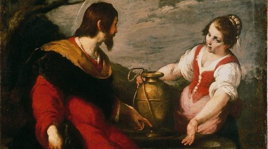 """Bernardo Strozzi's """"Christ and the Samaritan Woman at the Well"""" at the Museum de Fundatie in Zwolle, the Netherlands. (Museum de Fundatie)"""