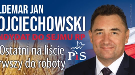 An election poster featuring Waldemar Wojciechowski ahead of the 2020 local elections in Poland. (PIS)