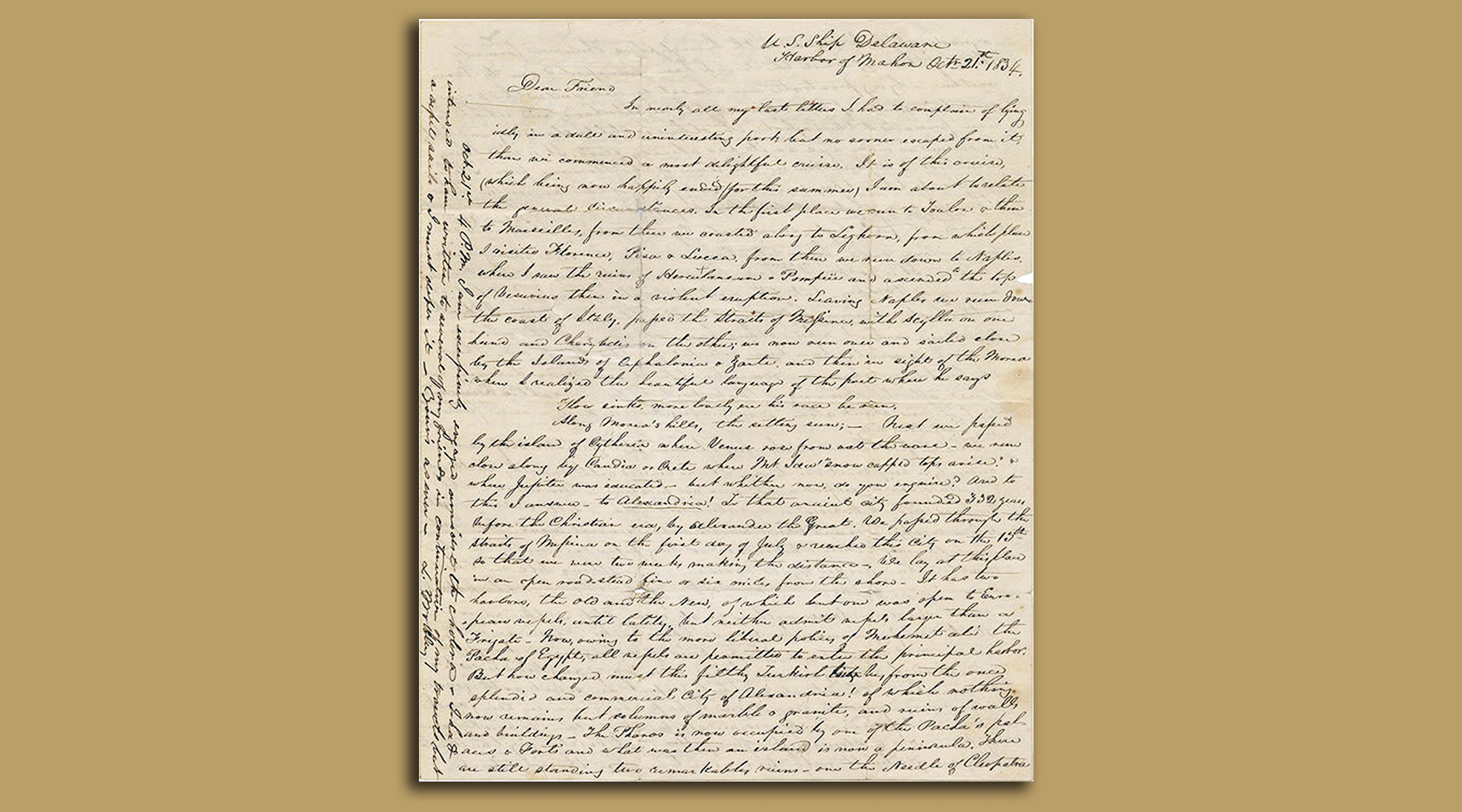 186-year-old letter detailing early American diplomatic visit to Holy Land surfaces in Jerusalem auction