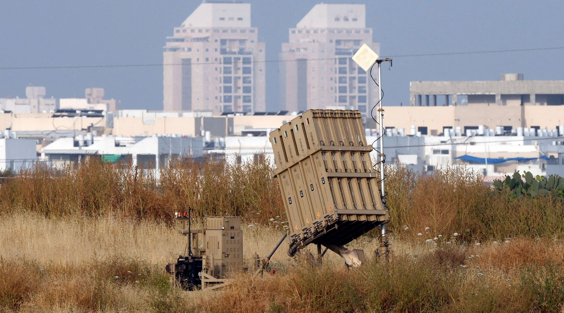 An Iron Dome battery outside the southern Israeli city of Ashdod, on April 24, 2021. (Jack Guez/AFP via Getty Images)