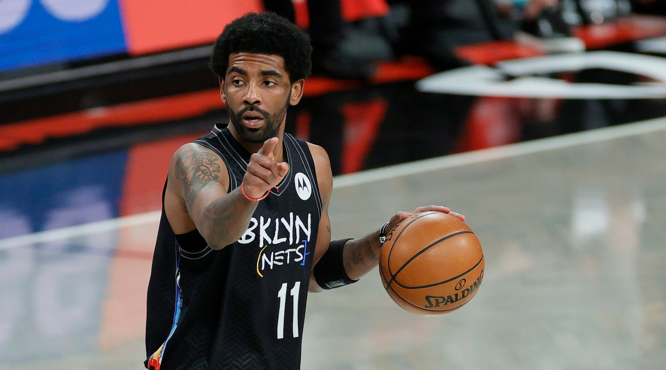 Nets star Kyrie Irving says he's more focused on the Israel-Gaza conflict than basketball right...