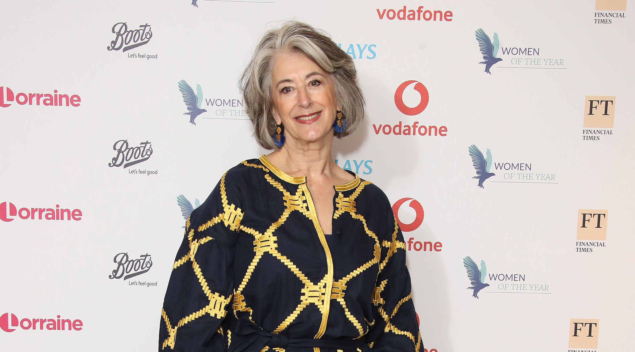 Maureen Lipman attends the Woman Of The Year Awards Lunch at Royal Lancaster Hotel in London, UK on Oct. 14, 2019. (Mike Marsland/WireImage)