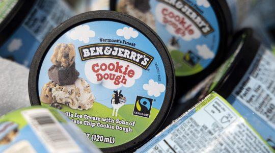 A pint of Ben & Jerry's Cookie Dough ice cream