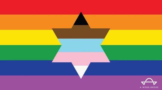 A Wider Bridge LGBTQ Pride flag