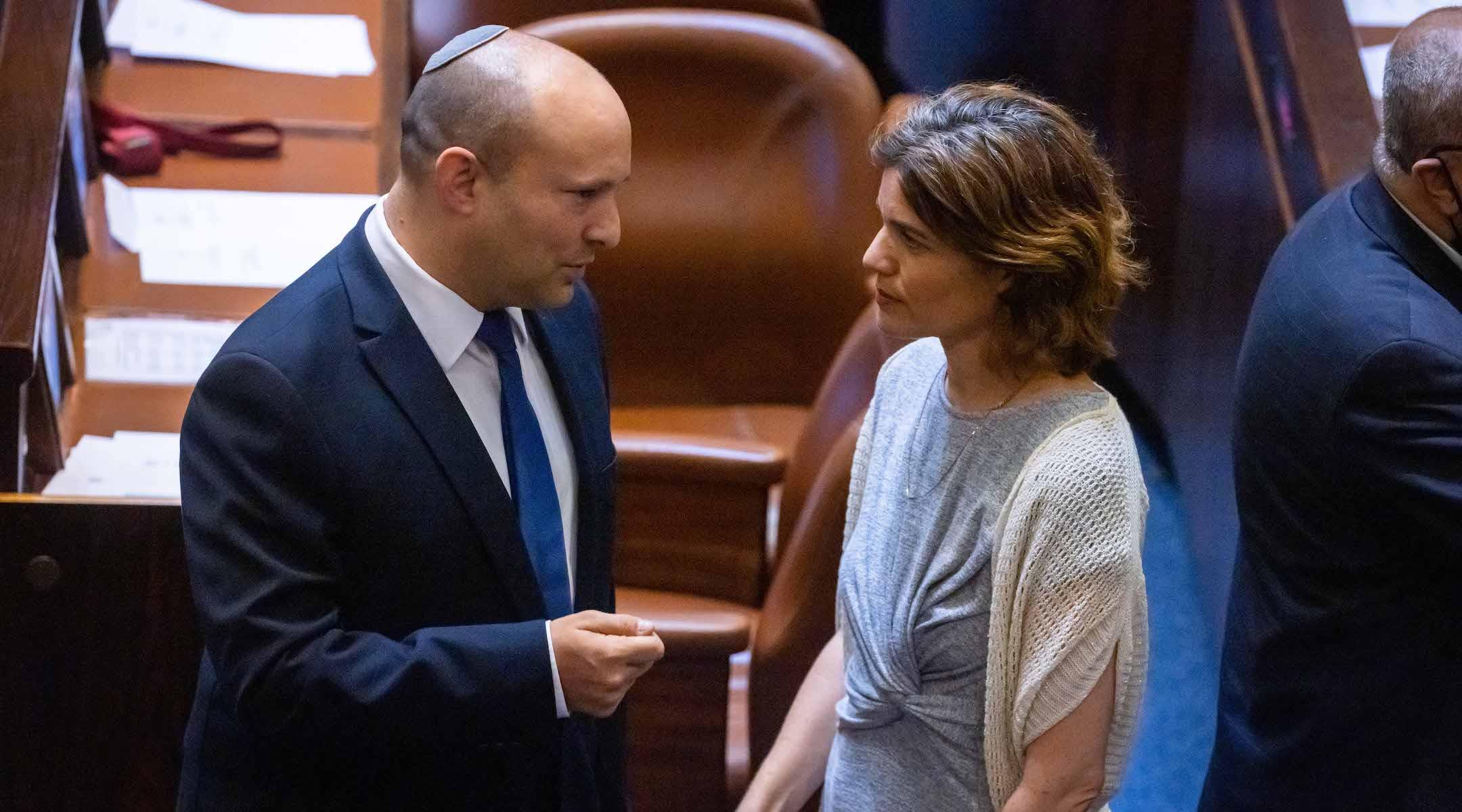 Naftali Bennett and Tamar Zandberg