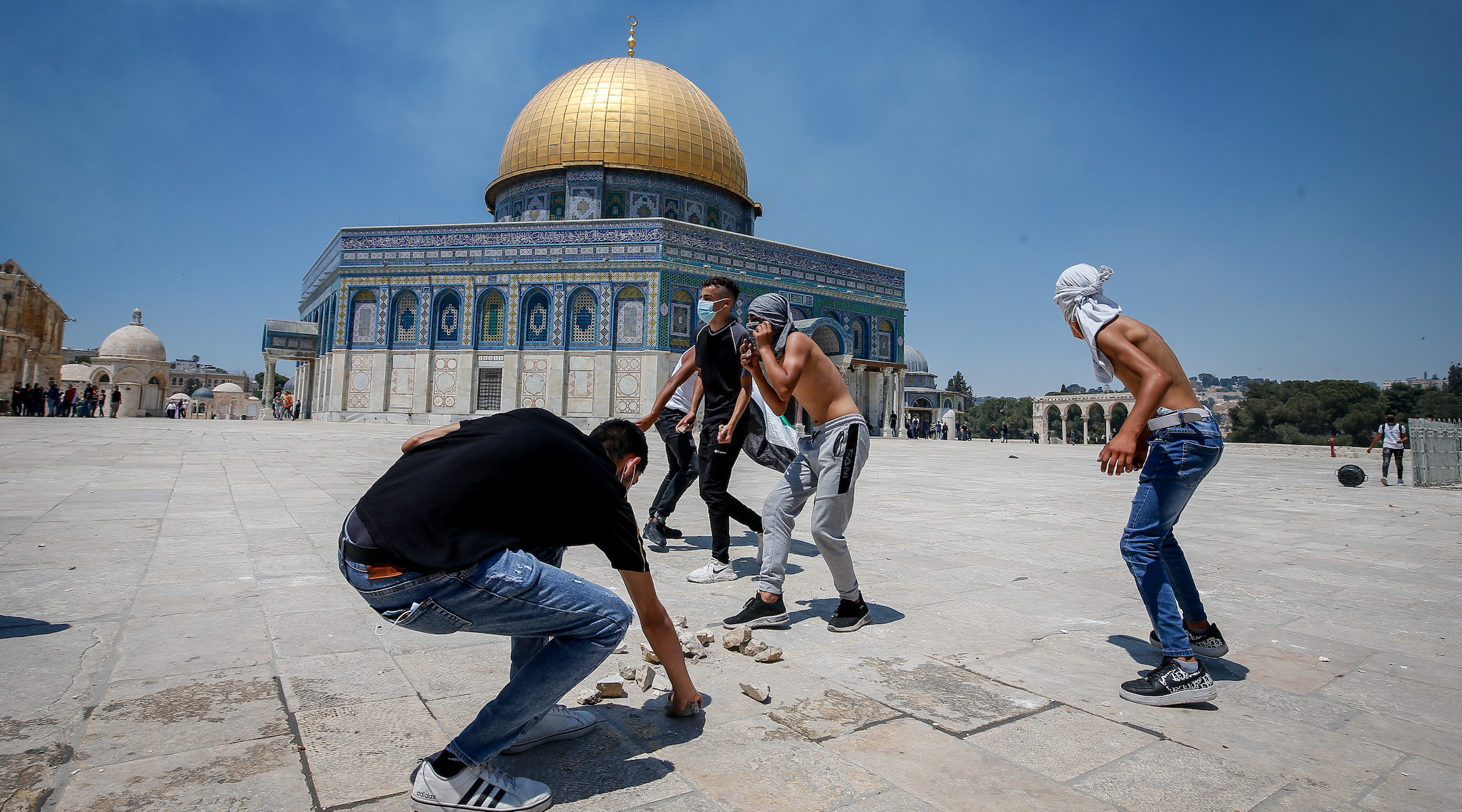 Violence renews on Temple Mount and in West Bank amid escalating tensions between Israel and...