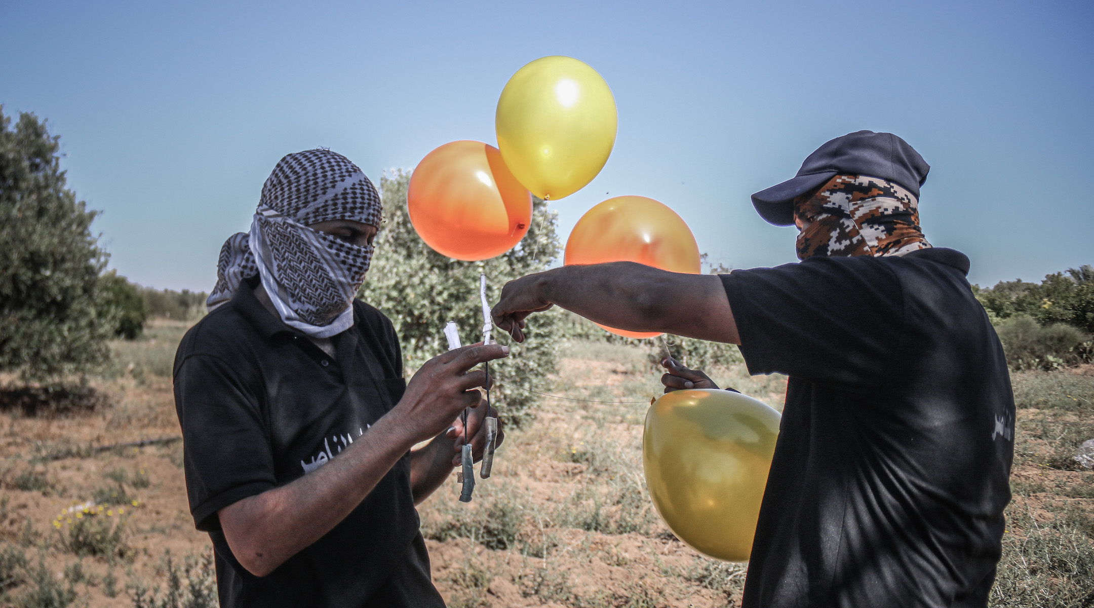 Israel strikes more Hamas sites as incendiary balloons continue from Gaza