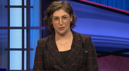 """Mayim Bialik in her """"Jeopardy!"""" debut"""