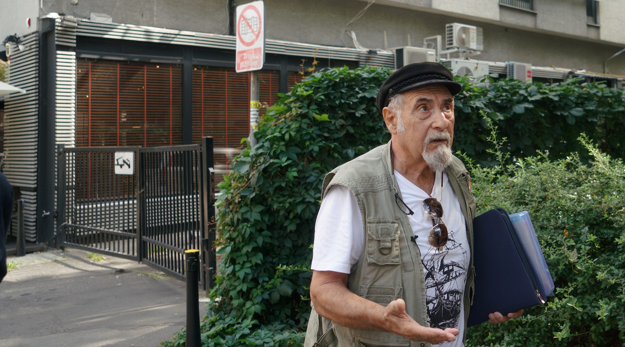 Yoram Sztykgold recalls his childhood in Warsaw, Poland, which he visited to obtain restitution for property on Sept. 5, 2018. (Cnaan Liphshiz)