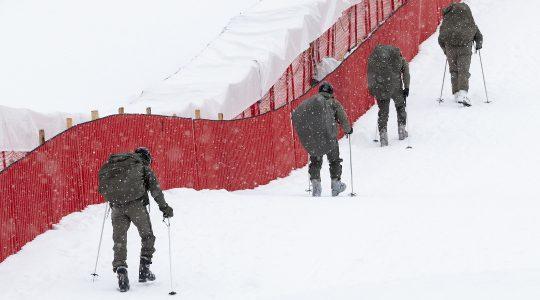 Soldiers train in Kitzbuehel, Austria on January 23, 2021. (Joe Klamar/AFP via Getty Images)