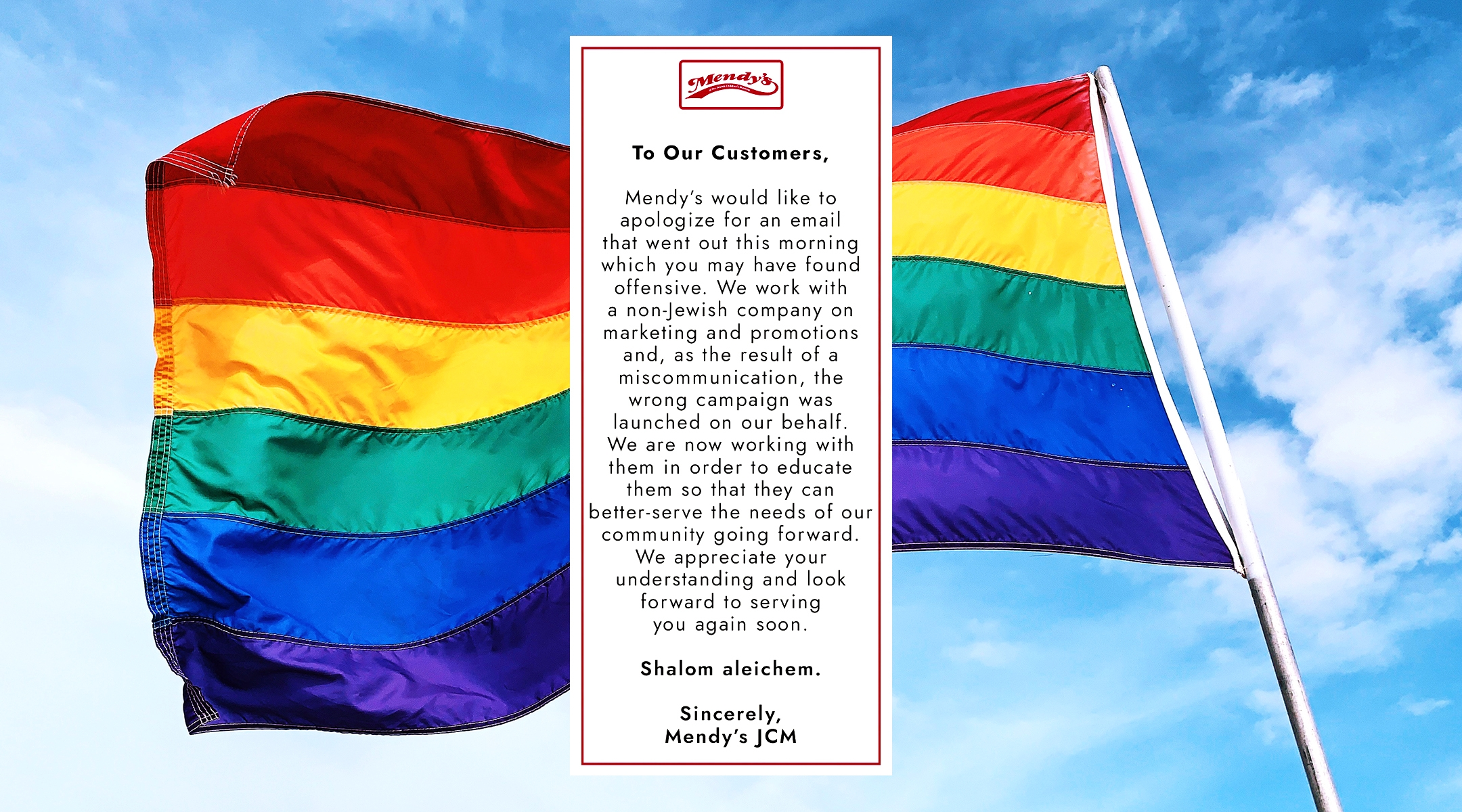 2 New York City kosher restaurants sent Pride emails. They didn't mean to.