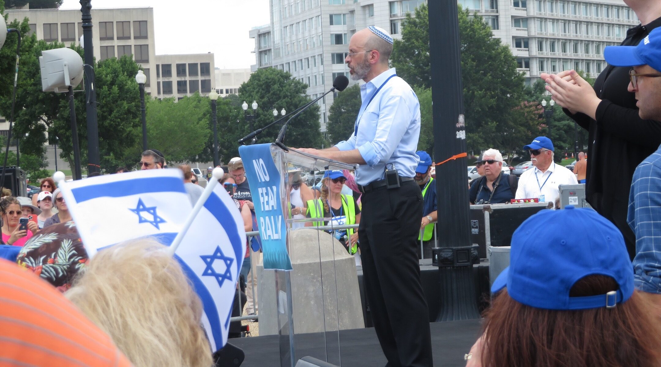Elisha Wiesel NO FEAR rally