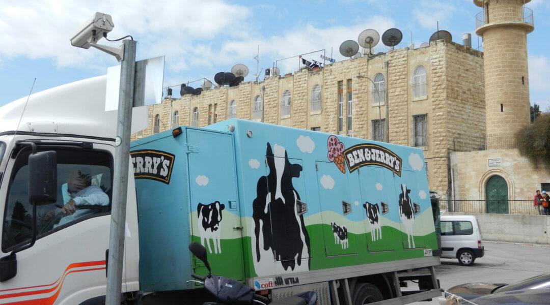 Ben & Jerry's truck Jerusalem