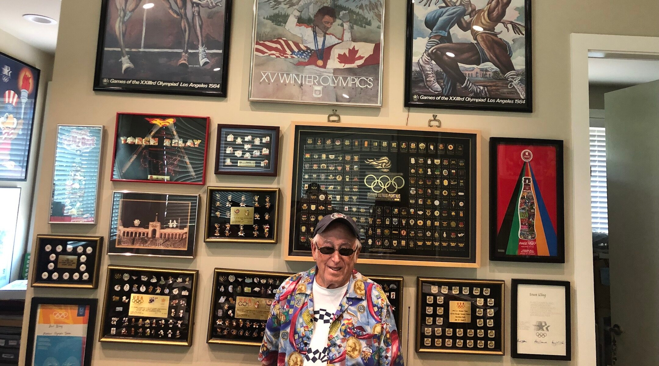 Sidney Marantz boasts a collection of over 12,000 Olympic pins