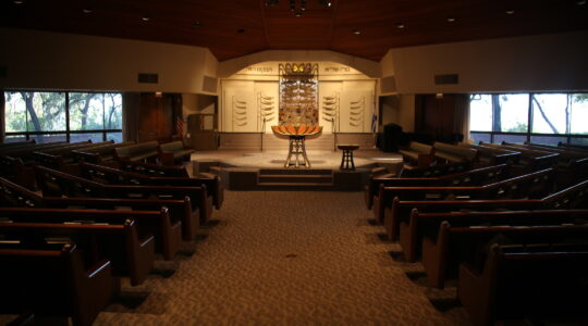 empty synagogue high holidays