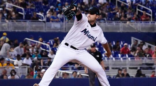 Richard Bleier of the Miami Marlins