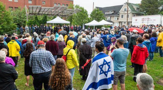 Brighton Massachusetts Jewish unity rally