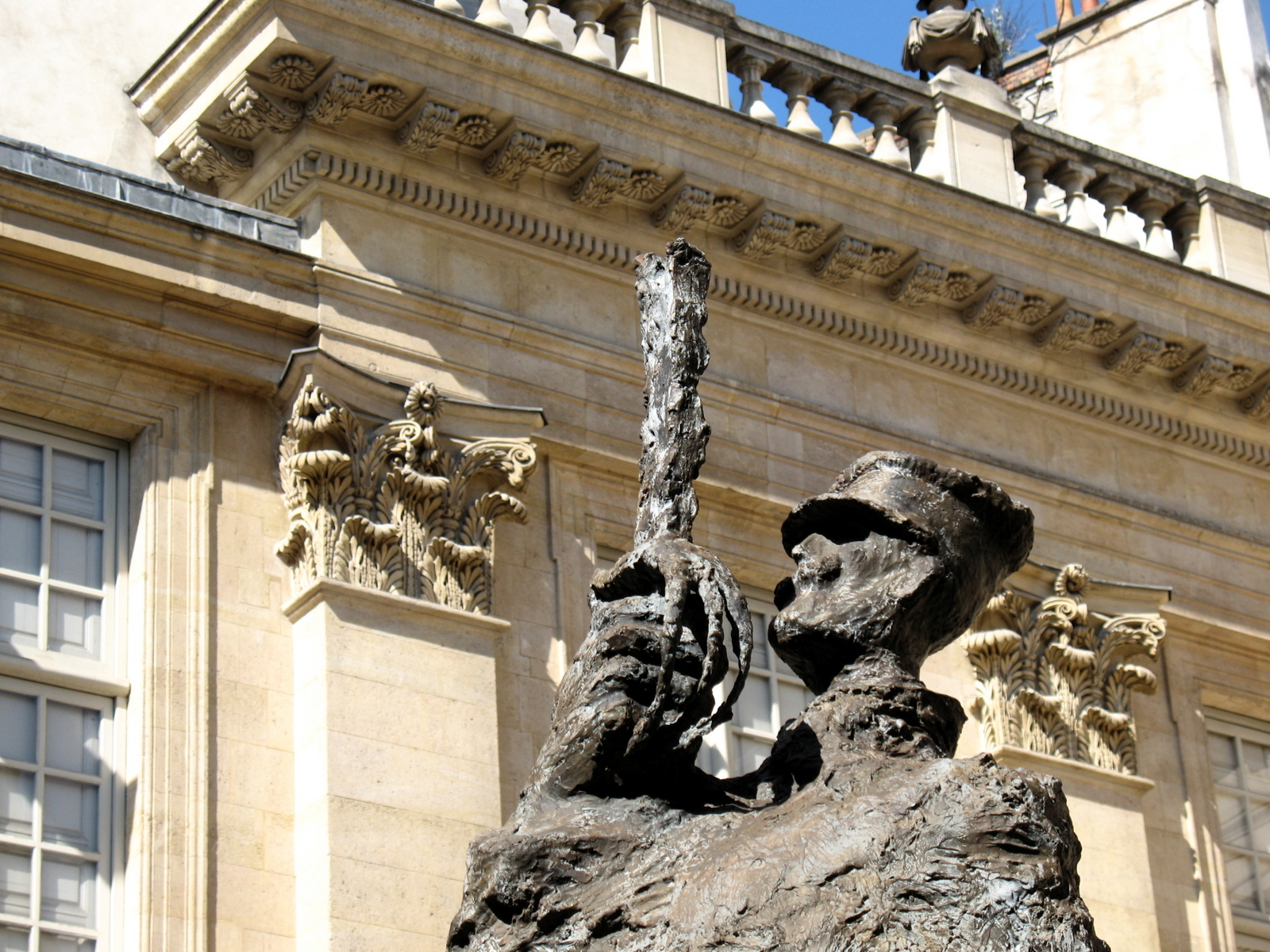The Alfred Dreyfus Statue in the courtyard of the Jewish Museum in Paris