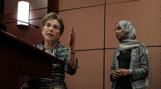 Jan Schakowsky and Ilhan Omar at press conference