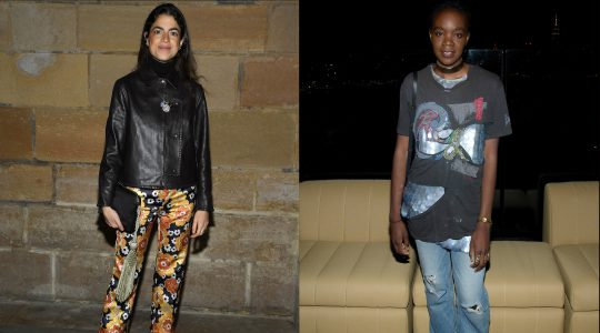 """Recho Omondi (right, pictured in 2016) is being accused of antisemitism for calling Leandra Medine Cohen (left, pictured in 2020) a """"Jewish American Princess."""" (Getty Images)"""