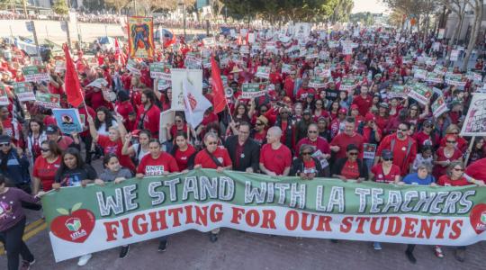 Teachers strike Los Angeles