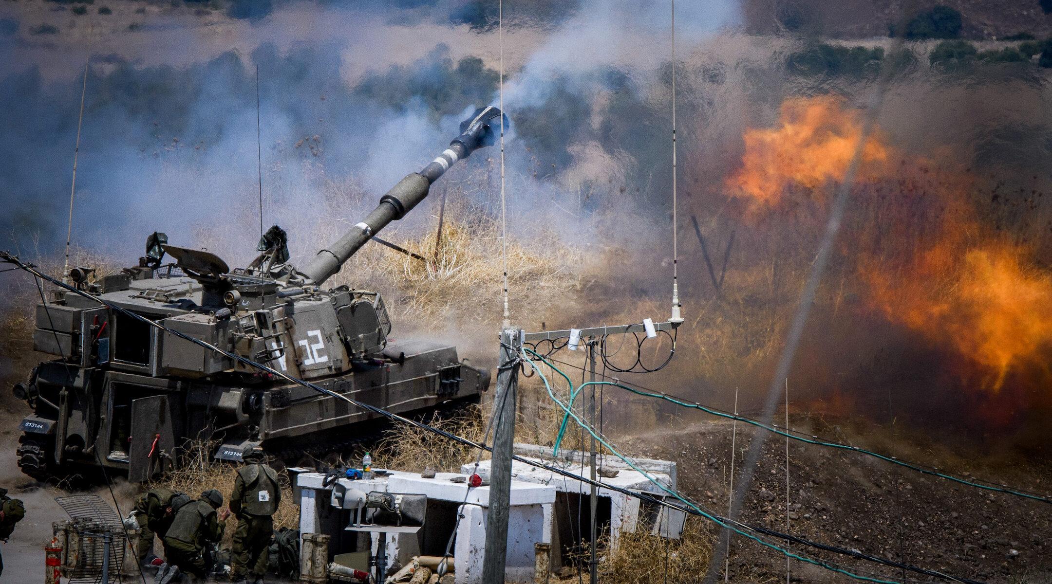 Israel fires into Lebanon
