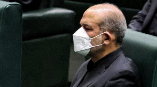 Ahmad Vahidi in a parliament session in Tehran