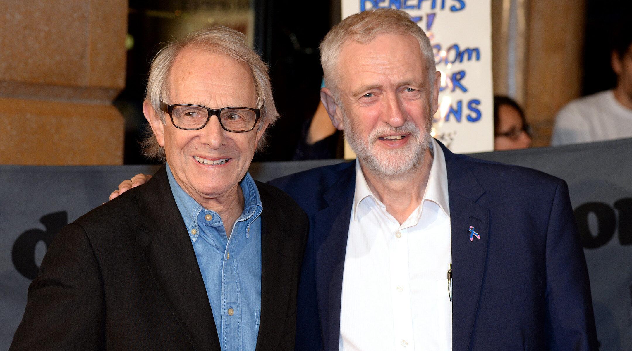 Ken Loach with Jeremy Corbyn