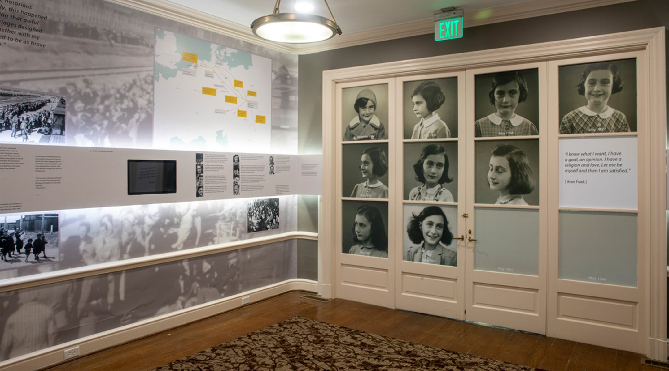 Part of the permanent exhibition of the Anne Frank Center at the University of South Carolina in Columbia, SC. (The University of South Carolina)