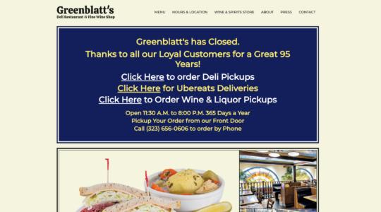 Greenblatt's Los Angeles deli closed