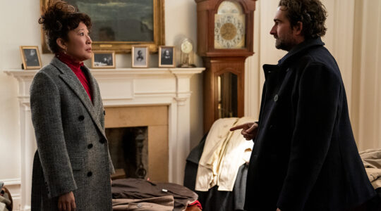 """Sandra Oh and Jay Duplass in """"The Chair."""""""