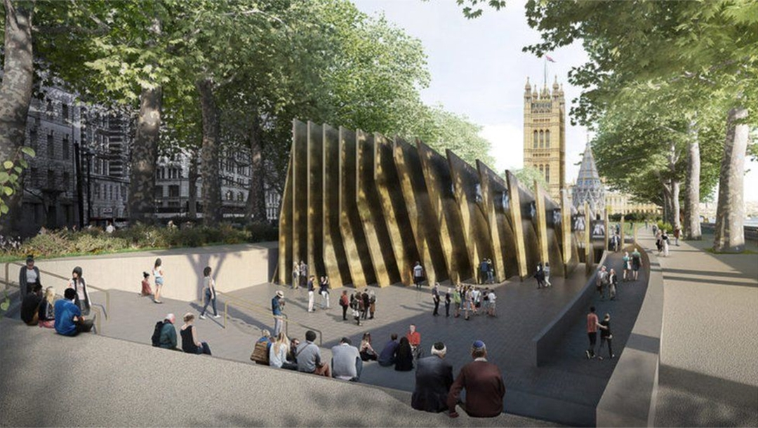An artist's impression of the future Holocaust memorial monument in Westminster Council, London, UK. (Adjaye Associates)