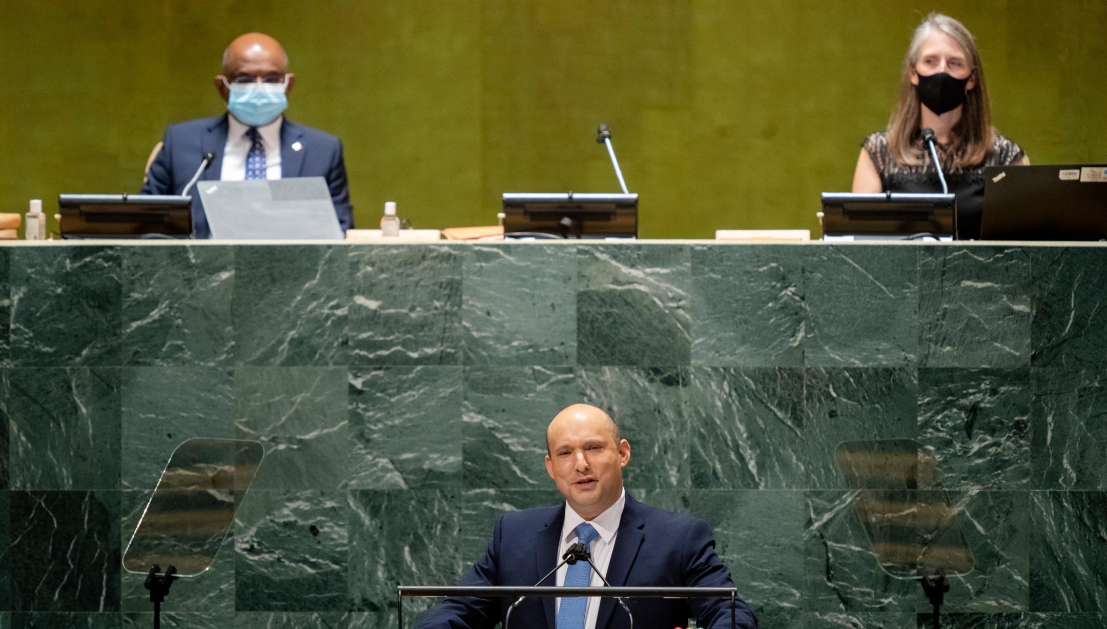 In his first UN speech, Naftali Bennett sounded different from Netanyahu