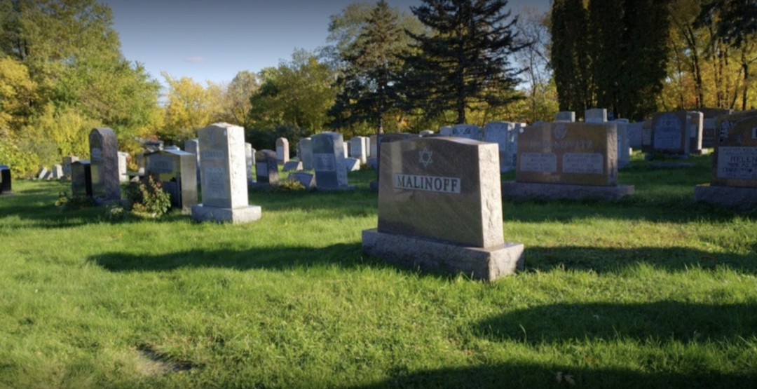 Headstones at a Jewish cemetery