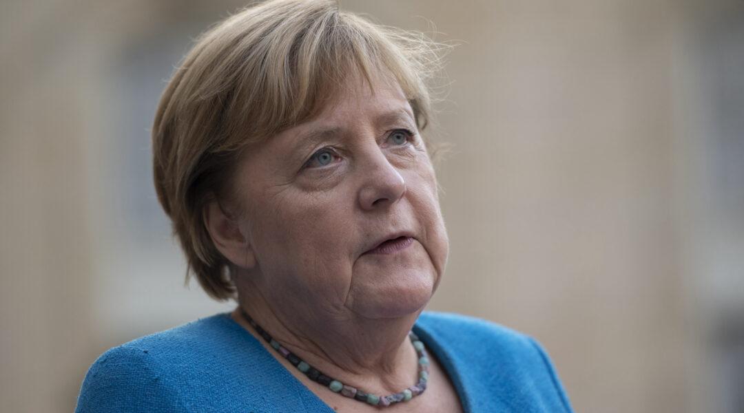 Angela Merkel speaks to press
