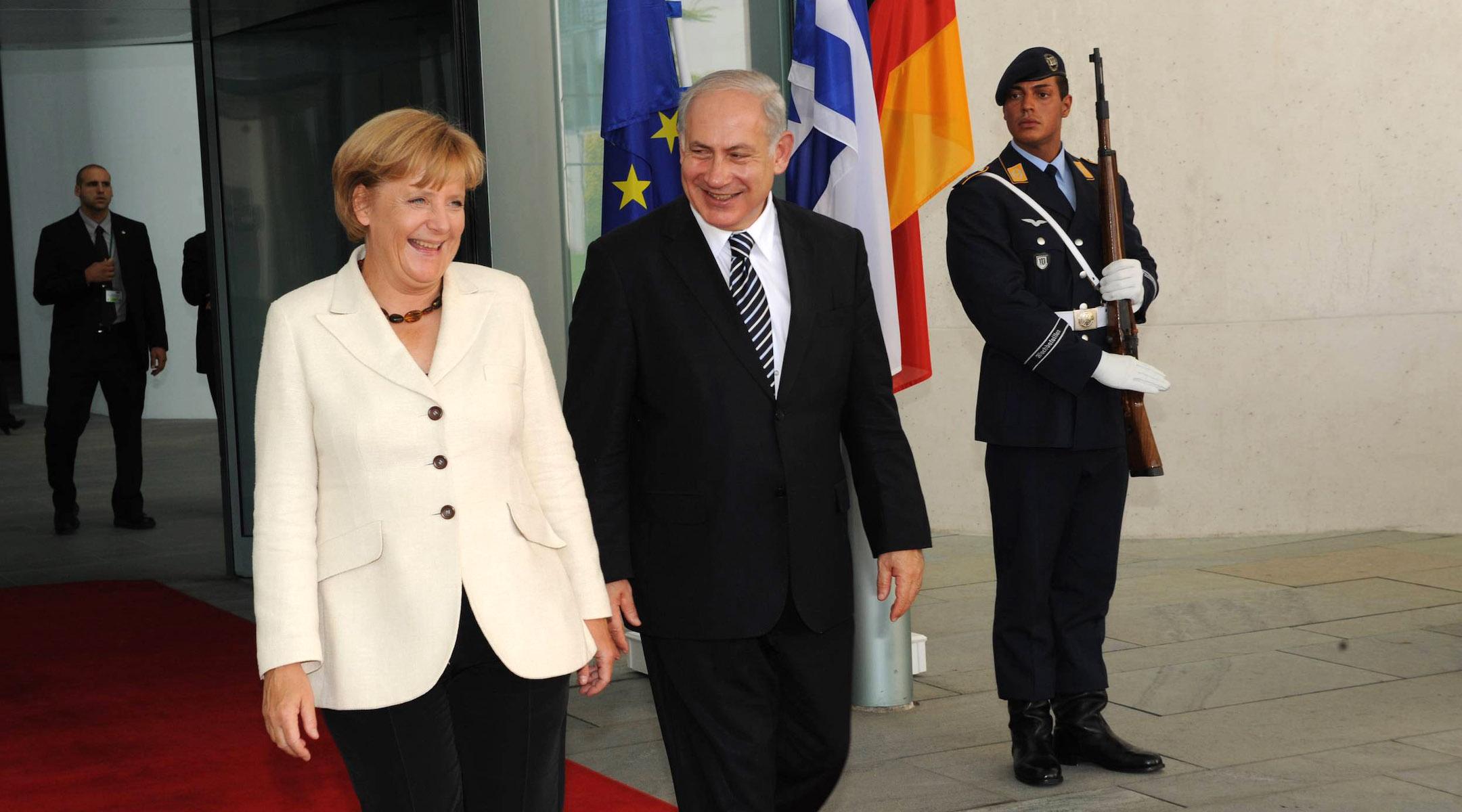 Angela Merkel meets with Benjamin Netanyahu