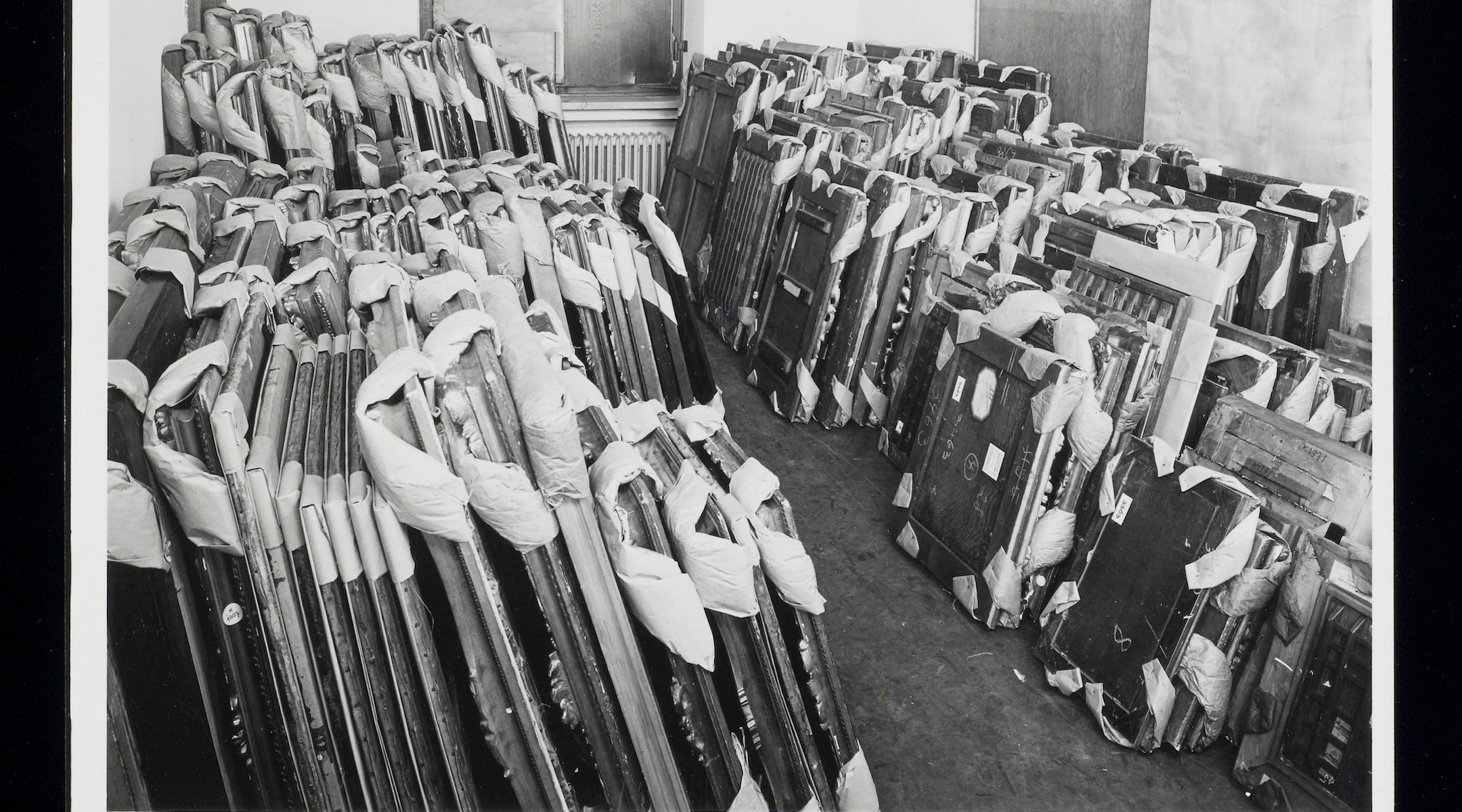 Johannes Felbermeyer, Artworks in storage at the Central Collecting Point, Munich, [ca. 1945-1949].
