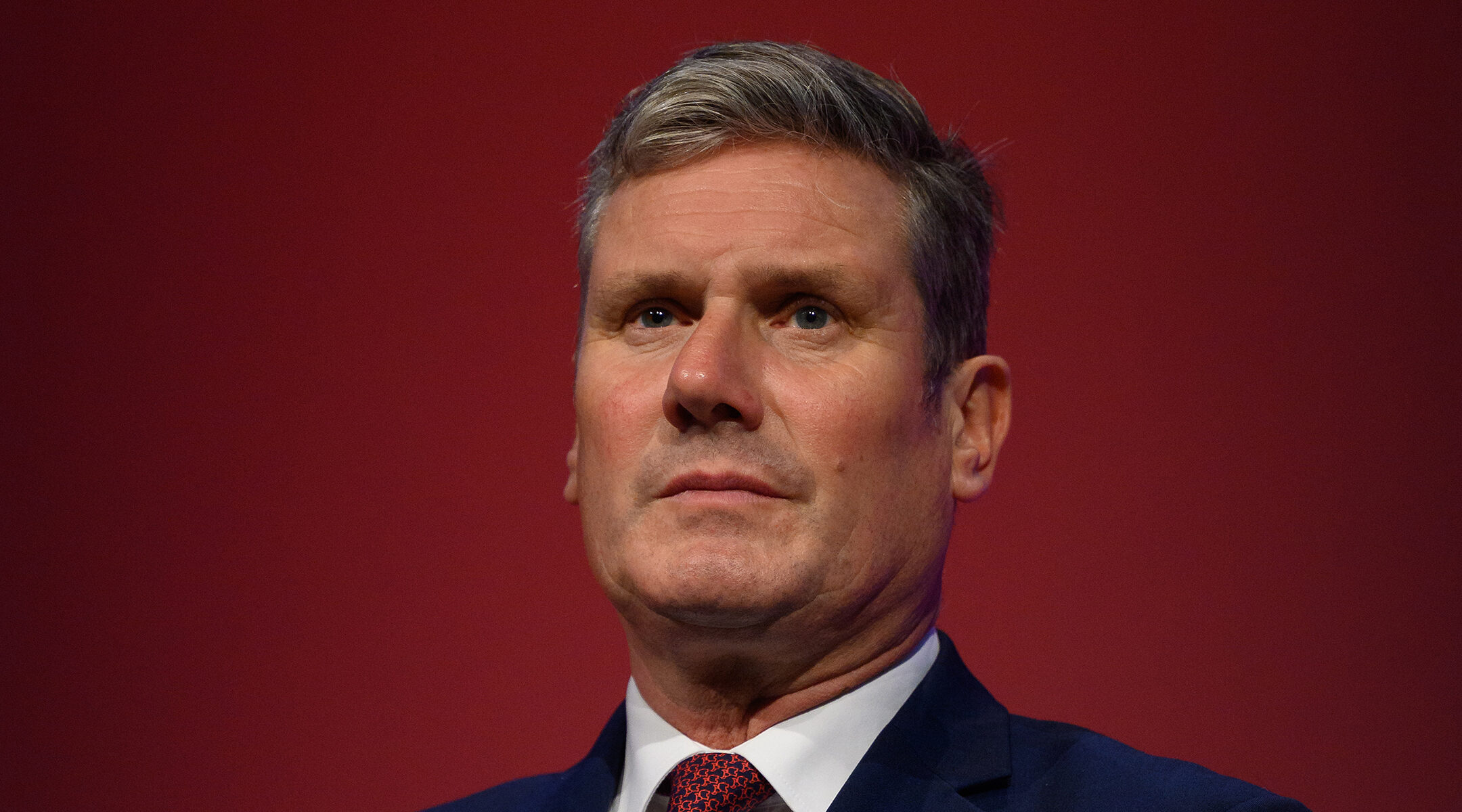 Keir Starmer speaks at the annual Labour conference in Brighton, UK on Sept. 25, 2021. (Leon Neal/Getty Images)