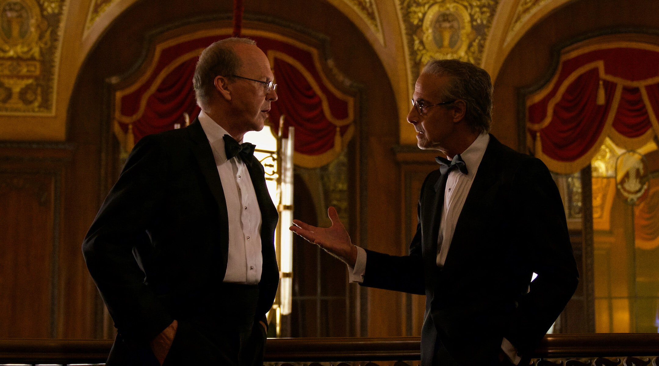 """Michael Keaton and Stanley Tucci in the movie """"Worth"""""""